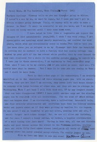 Letter from Katherine Anne Porter to Barbara Harrison Wescott, March 16, 1963