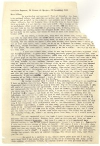 Letter from Katherine Anne Porter to Allen Tate, November 21, 1962
