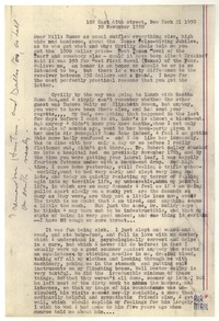 Letter from Katherine Anne Porter to William Goyen, November 30, 1950