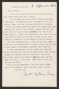 Letter from Katherine Anne Porter to Paul Porter Jr., September 08, 1956