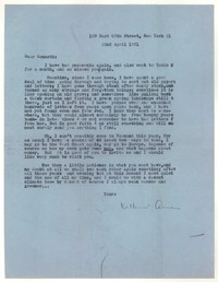 Letter from Katherine Anne Porter to Kenneth Durant, April 22, 1951