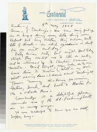 Letter from Katherine Anne Porter to Gay Porter Holloway and Ann Holloway Heintze, May 09, 1958
