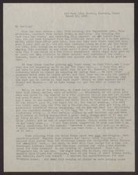 Letter from Katherine Anne Porter to Albert Erskine, March 23, 1938