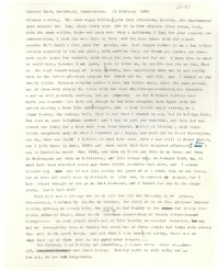 Letter from Katherine Anne Porter to Glenway Wescott, February 21, 1956