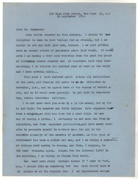 Letter from Katherine Anne Porter to William Humphrey, September 26, 1950