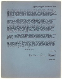 Letter from Katherine Anne Porter to Donald Elder, July 11, 1941
