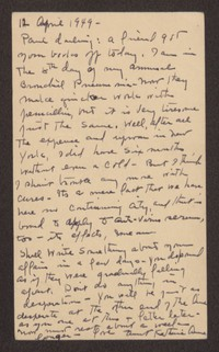 Letter from Katherine Anne Porter to Paul Porter Jr., April 12, 1949