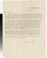 Letter from Katherine Anne Porter to Gay Porter Holloway, January 18, 1948