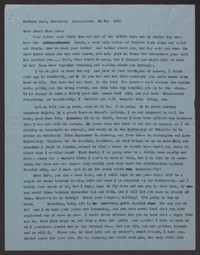 Letter from Katherine Anne Porter to Cora Posey, May 22, 1958