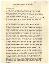 Letter from Katherine Anne Porter to Allen Tate, October 19, 1952