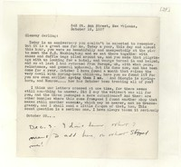Letter from Katherine Anne Porter to Glenway Wescott, October 16, 1937
