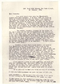 Letter from Katherine Anne Porter to Kenneth Durant, January 25, 1951