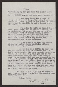 Letter from Katherine Anne Porter to Albert Erskine, November 15, 1941