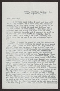 Letter from Katherine Anne Porter to Albert Erskine, August 14, 1940