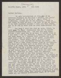 Letter from Katherine Anne Porter to Walter T. Heintze, January 05, 1951
