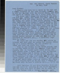 Letter from Katherine Anne Porter to Gay Porter Holloway, May 28, 1946
