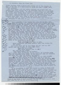 Letter from Katherine Anne Porter to Gay Porter Holloway, December 11, 1954