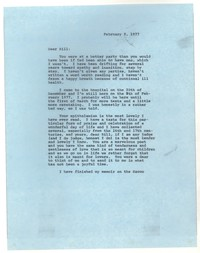 Letter from Katherine Anne Porter to William Jay Smith, February 08, 1977