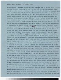 Letter from Katherine Anne Porter to Gay Porter Holloway, October 07, 1957