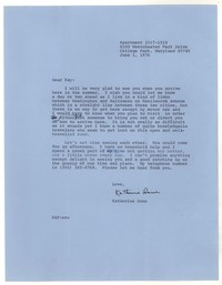 Letter from Katherine Anne Porter to Kay Boyle, June 01, 1976