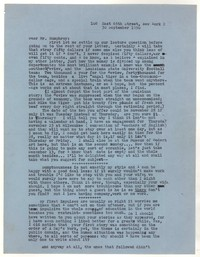 Letter from Katherine Anne Porter to William Humphrey, September 30, 1950