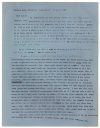 Letter from Katherine Anne Porter to Donald Elder, April 17, 1957