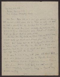 Letter from Katherine Anne Porter to Eugene Pressly, April 12, 1934