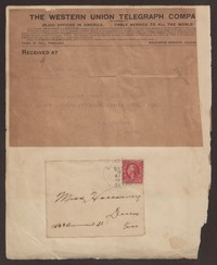 Letter from Thomas Holloway to Gay Porter Holloway, December 08, 1912