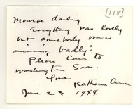 Letter from Katherine Anne Porter to Monroe Wheeler, June 23, 1944