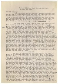 Letter from Katherine Anne Porter to Donald Elder, October 30, 1943