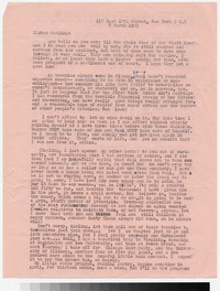 Letter from Katherine Anne Porter to Gay Porter Holloway, March 08, 1953