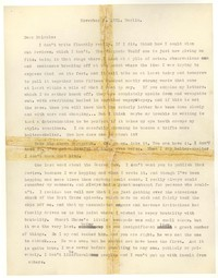 Letter from Katherine Anne Porter to Malcolm Cowley, November 05, 1931