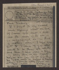 Letter from Katherine Anne Porter to Paul Porter Jr., after August 15, 1944
