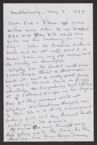 Letter from Katherine Anne Porter to Albert Erskine, May 06, 1939