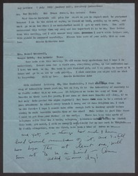 Letter from Katherine Anne Porter to Gertrude Beitel and Samuel Greenwell, July 07, 1958