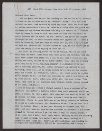 Letter from Katherine Anne Porter to Cora Posey, October 21, 1952