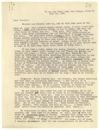 Letter from Katherine Anne Porter to Glenway Wescott, July 28, 1936
