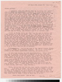 Letter from Katherine Anne Porter to Gay Porter Holloway, circa August 21, 1951