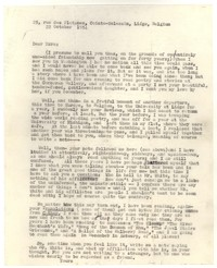 Letter from Katherine Anne Porter to Ezra Pound, October 22, 1954