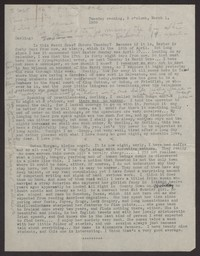 Letter from Katherine Anne Porter to Albert Erskine, March 01, 1938