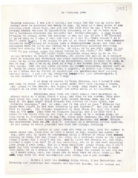 Letter from Katherine Anne Porter to Glenway Wescott, February 26, 1945