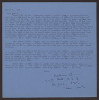 Letter from Katherine Anne Porter to Eugene Pressly, April 06, 1943