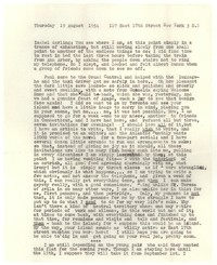 Letter from Katherine Anne Porter to Isabel Bayley, August 19, 1954