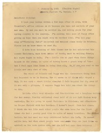 Letter from Katherine Anne Porter to Delafield Day Spier, January 06, 1931
