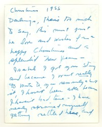 Letter from Katherine Anne Porter to Isabel Bayley and W. Hewitt Bayley, December 25, 1955