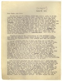 Letter from Katherine Anne Porter to Janice Biala and Ford Maddox Ford, May 16, 1935