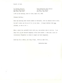 Letter from Katherine Anne Porter to Glenway Wescott, April 10, 1940