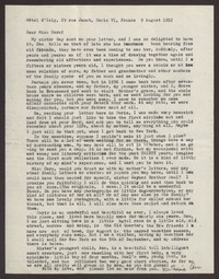 Letter from Katherine Anne Porter to Cora Posey, August 09, 1952