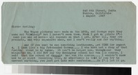 Letter from Katherine Anne Porter to Gay Porter Holloway, August 01, 1947