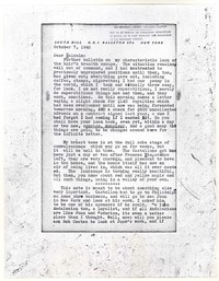 Letter from Katherine Anne Porter to Malcolm Cowley, October 07, 1942